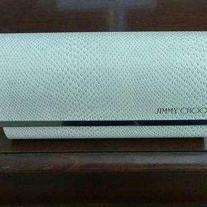 Jimmy Choo NEW snakeskin glasses case & cloth